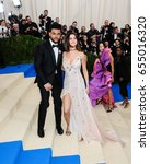 selena gomez and the weeknd... | Shutterstock . vector #655016320