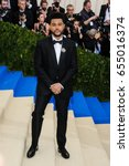 the weeknd attends the 2017... | Shutterstock . vector #655016374
