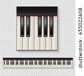 realistic vector piano keys... | Shutterstock .eps vector #655022608