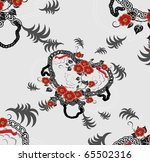 beautiful seamless pattern with ...   Shutterstock .eps vector #65502316