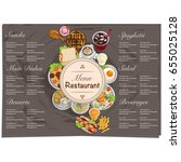 menu food restaurant template... | Shutterstock .eps vector #655025128