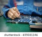 engineer measure multimeter... | Shutterstock . vector #655031146