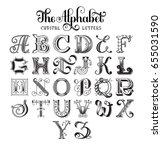 retro decorative font. original ... | Shutterstock .eps vector #655031590