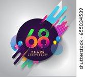 68th years anniversary logo... | Shutterstock .eps vector #655034539