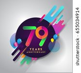 70 years anniversary logo with... | Shutterstock .eps vector #655034914