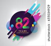 82nd years anniversary logo... | Shutterstock .eps vector #655034929