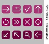 set of web navigation icons....