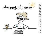 celebrating summertime concept... | Shutterstock .eps vector #655038550
