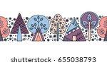 vector hand drawn seamless...   Shutterstock .eps vector #655038793