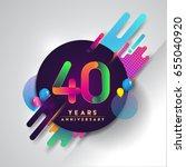 40th years anniversary logo... | Shutterstock .eps vector #655040920