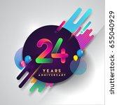 24th years anniversary logo... | Shutterstock .eps vector #655040929
