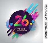 26th years anniversary logo... | Shutterstock .eps vector #655040953