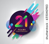 21st years anniversary logo... | Shutterstock .eps vector #655040983