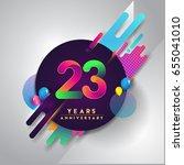 23rd years anniversary logo... | Shutterstock .eps vector #655041010