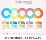 timeline infographic   business ... | Shutterstock .eps vector #655041160