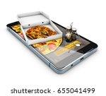 order food online website. fast ... | Shutterstock . vector #655041499