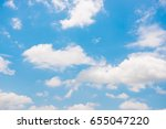 blue sky with cloud | Shutterstock . vector #655047220