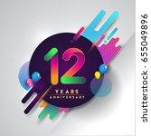 12th years anniversary logo... | Shutterstock .eps vector #655049896