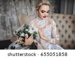 Beautiful Bride In A White...