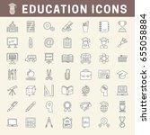 set of school and education... | Shutterstock .eps vector #655058884