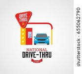 national drive thru day | Shutterstock .eps vector #655062790