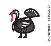 turkey sketch vector icon for... | Shutterstock .eps vector #655063714