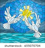 illustration in stained glass... | Shutterstock .eps vector #655070704