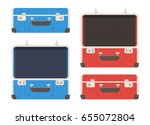 closed and open briefcase or... | Shutterstock .eps vector #655072804