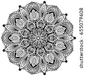 mandalas for coloring book.... | Shutterstock .eps vector #655079608