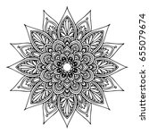 mandalas for coloring book.... | Shutterstock .eps vector #655079674