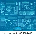 abstract future  concept vector ... | Shutterstock .eps vector #655084408