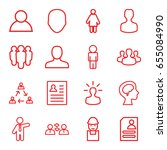 profile icons set. set of 16... | Shutterstock .eps vector #655084990