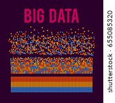 big data visualization. machine ...   Shutterstock .eps vector #655085320