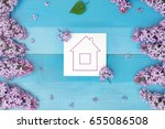 construction of a country house | Shutterstock . vector #655086508