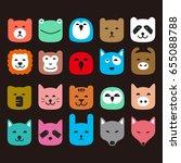 animal face flat icon  like... | Shutterstock .eps vector #655088788