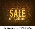 fathers day sale promotion... | Shutterstock .eps vector #655096654