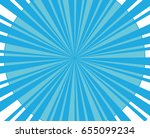sky blue sunburst in vector... | Shutterstock .eps vector #655099234