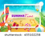 summer. | Shutterstock .eps vector #655102258