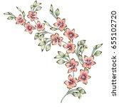 Stock photo watercolor flower illustration 655102720