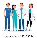 medical workers standing and... | Shutterstock .eps vector #655103554