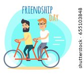 friendship day. two best... | Shutterstock .eps vector #655103848