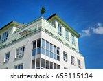 modern apartment buildings...   Shutterstock . vector #655115134