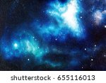 Cosmic Space And Stars  Color...