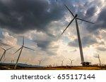 wind turbines at khao kho... | Shutterstock . vector #655117144