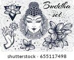 beautiful decorative elements...   Shutterstock .eps vector #655117498