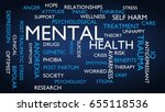 mental health word tag cloud.... | Shutterstock . vector #655118536