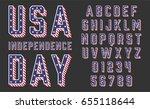 font usa flag stars and stripes ...   Shutterstock .eps vector #655118644