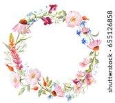 watercolor gentle flower... | Shutterstock . vector #655126858