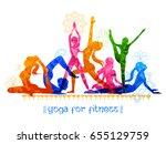 illustration of woman doing... | Shutterstock .eps vector #655129759