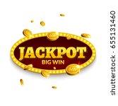 jackpot gambling retro banner... | Shutterstock .eps vector #655131460
